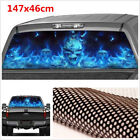 New 147x46cm Car Rear Window Decal Flaming Skull Horror Monsters Scary Stickers