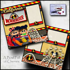 Disney INCREDICOASTER California 2 premade pages paper piecing Cherry 0017