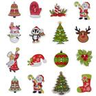 50Pcs Scrapbooking Sewing Wooden Santa Claus Deer Christmas Buttons 2 Holes TS