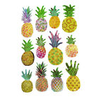 Tropical Pineapple 3D Puffy Glitter Stickers 12 Piece