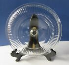 Glass Lid Clear Round Ribbed Vintage - Replacement Lid - Lid Only