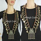 Banjara Style P)earl Beaded Kuchi Necklace - Handmade Afghani Jewelry-Megh Craft