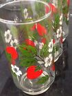 vintage Painted Strawberry drinking glasses set