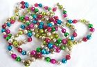 Vintage Christmas Glass Bead Garland 1950s Christmas Tree Decoration 96 in long