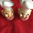 VINTAGE CHEF SALT AND PEPPER SHAKERS 1950