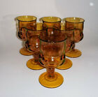 Lot of 6 vintage Indiana Glass Water Goblets 5 5/8