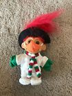 """Troll Doll 4 1/2"""" Russ Chirstmas Frosty the Snowman Carrot Nose Red Hair"""
