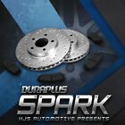 [Front Drill Brake Rotors Ceramic Pads] Fit 06-13 Toyota RAV4 4 Cyl 5 Seater
