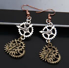 Steampunk Necklace Gears Key Pendant Chain and Eerrings for Women Jewelry