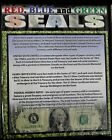 Red, Blue, and Green Seals $1, $2, & $5 Bills