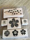 STAMPIN UP EASTERN BLOOMS FLOWERS SET 5 WOOD MOUNT RUBBER STAMPS