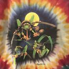 Vintage Frogs Rasta Weed Pot Tie Dye 90s Mendocino T Shirt Mens Size Large