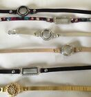 Authentic Origami Owl Leather Wrap Bracelets w/ Lockets Free Shipping
