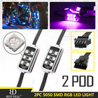 2x Pod LED RGB Multi-Color Neon Motorcycle Engine Wheel UnderGlow Accent Light
