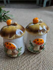 Vintage Toadstool Mushroom Salt and Pepper Shakers Autumn Fall Decor