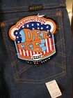 Vintage 1960s USA DEADSTOCK Men Women DEE CEE Western 14+ Oz Denim Jeans 27 x 32