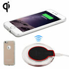QI Wireless Charging Receiver Charger Gel Back Case For A pple Phone 6 Gold