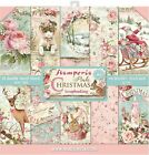Stamperia Double Sided Paper Pad 12X12 10 Pkg Pink Christmas 10 Designs 1 Eac