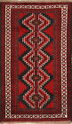 Labor Day Deal Geometric Red 4x6 Wool Balouch Persian Oriental Area Rug Carpet