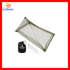 The Friendly Swede Mosquito Net Canopy for Single Camping Bed Tent Pegs and