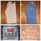 Lot Of 2 Vtg Levis 501XX Mens Button Fly Straight L Jeans Size 34 X 36 USA