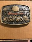 Nice Vintage Brass 1988 Snap-On Tool Belt Buckle Leading The Way Delivery Driver