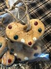 Prim Bowl Fillers Salt Dough Ornies 5 Christmas Tree Hearts Ornaments
