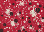Midnight Kisses by Heidi Grace JoAnn Fabric Red Black White Cotton Fabric Floral