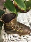 ANTIQUE VICTORIAN CHILD'S BUTTON UP SHOE PIN CUSHION BRONZE FINISH