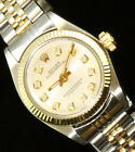 Rolex Ladies Oyster Perpetual Two Tone Jubilee Diamond Dial Watch