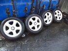2004 Seat Ibiza Set of 4 Four Stud15 Alloy WheelsTyres 195 55 15