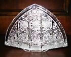 Bohemian Czech Vintage Crystal 55 Napkin Stand Hand Cut Queen Lace 24 Lead