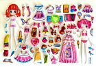 3D Crystal Girl Change Clothes Dress up Headwear Flowers Bows Party Sticker 002