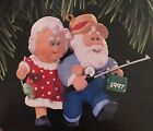 The Clauses on Vacation 1997 Hallmark Keepsake Christmas Ornament QX6112 Fishing