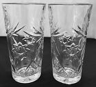 Set Of 2 EAPC Early American Prescut Glass Star Of David Tea Tumblers / Glasses