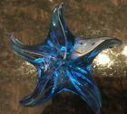 SAINT LOUIS FRANCE Cobalt Blue STARFISH Art Glass PAPERWEIGHT Sculpture