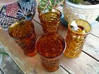 Four Whitehall Amber Goblets Indiana Vintage Glassware, Retro Set table setting