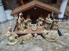 Vintage Christmas Nativity Set Manger Figures Wiseman Animals JAPAN
