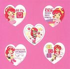 15 Strawberry Shortcake Heart Shaped Valentines Day Large Stickers Rewards