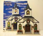 HTF Lemax 1997 MEMORY MAKERS 16 CHURCH Facade VILLAGE Christmas LIGHTED 77069