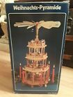 Vtg Weihnachts Pyramide 4 Tier German Christmas Nativity Carousel Candle Power