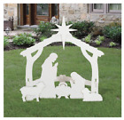 Nativity Set for Christmas Outdoor White Scene Yard Decorations Elegant Holiday