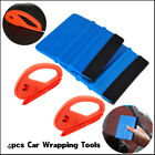Pro 4pcs Car Vinyl Wrapping Tools Kit Window Tint Tuck Gasket Squeegee