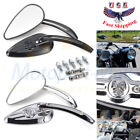 Skull Teardrop Rearview Mirrors For Harley Touring Glide Softail Dyna Motorcycle