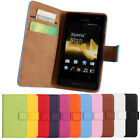 Classic Genuine Real Leather Wallet Card Holder Stand Flip Case For SmartPhones