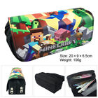 Minecraf Canvas Double-layer Pencil Case Student Stationery Pencil Box Kids Gift