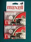 MAXELL UR 60 Audio Cassettes New 2 pack