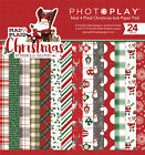 Photo Play Paper Photo Play Double Sided Paper Pad 6X6 24 Pkg Mad 4 Plaid Chri