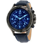 Nautica NST Blue Dial Leather Strap Men's Watch NAD21008G