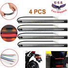 4Pcs Flexible Motorcycle 48 LED Strip Turn Signal Tail Brake Stop Running Lights